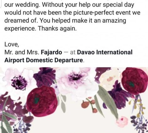 Thank You Maam Mary Jane Fajardo for Trusting Dazzle Events ...